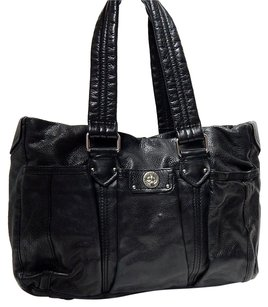 Marc by Marc Jacobs Totally Turnlock Leather Tote Black Diaper Bag