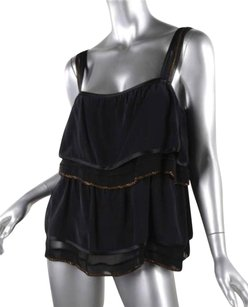 Marc Jacobs Womens Silk Top Black