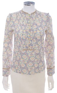 Marc Jacobs Cotton Floral Top IVORY MULTI