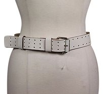 Marc Jacobs Marc Jacobs Womens Ivory Belt Ml Leather Textured Casual