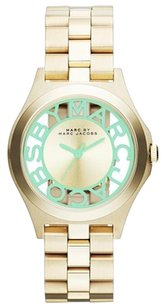 Marc by Marc Jacobs Marc Jacobs Henry Skeleton Quartz Mint Dial Women's Analog Watch