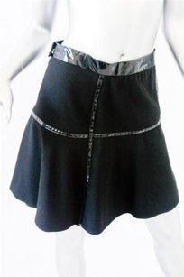 Marc Jacobs Black Wool Patent Mini Skirt Blacks