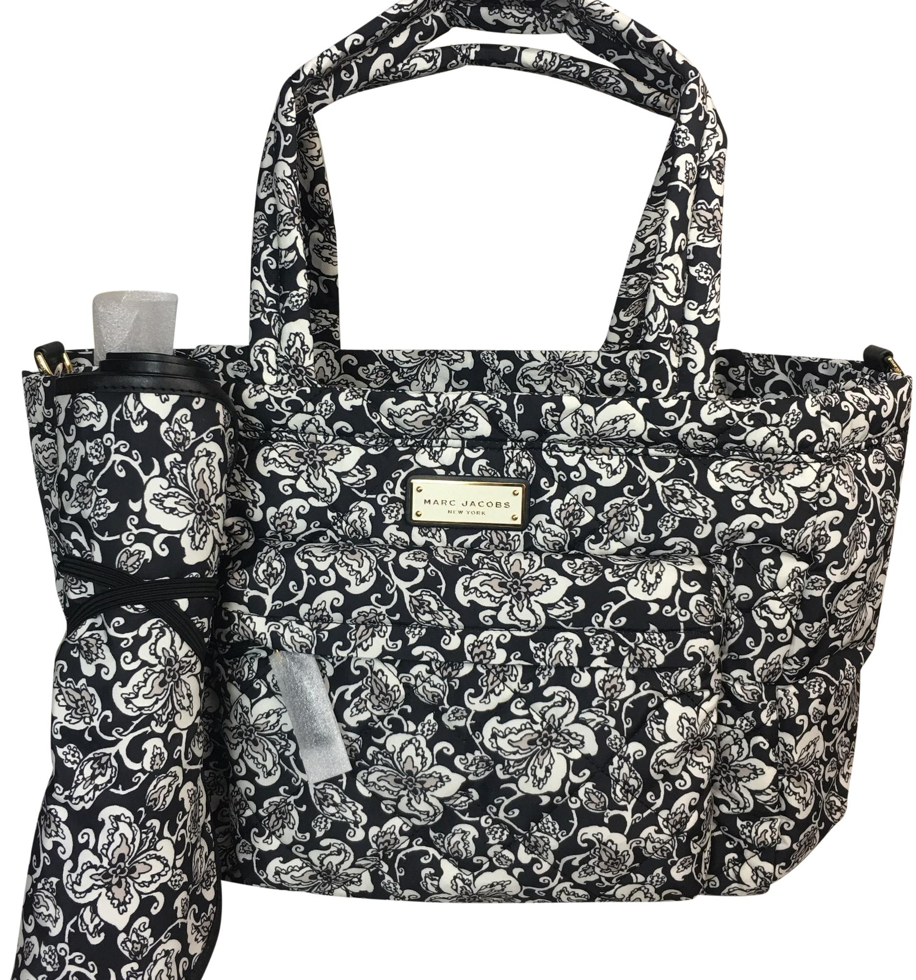 Marc Jacobs Quilted Mini Paisley Print Diaper Black