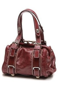 Marc Jacobs Calf Leather Box Satchel in Bordeaux