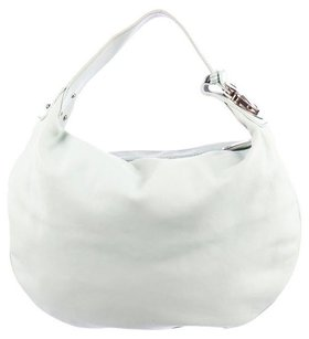Marc Jacobs Silver Leather Hobo Bag