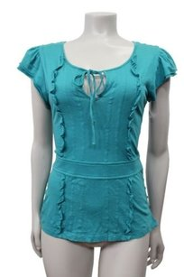 Marc Jacobs Ruffle Top teal
