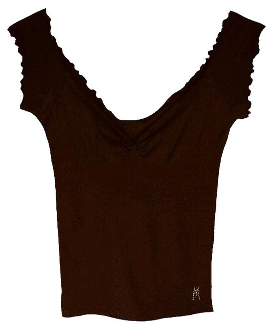 Preload https://item1.tradesy.com/images/marciano-signature-embellished-ribbed-tank-top-brown-5886865-0-0.jpg?width=400&height=650