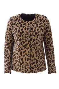 Marina Rinaldi Coats & Womens Mr15_coat_edera_leopard_63_25 Leather Jacket