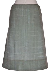 Marni Womens Blue Textured A Skirt Multi-Color