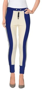 Marni Winter 2012 Blue White Colorblock Tech Stretch Stripe Leggings 426 Pants