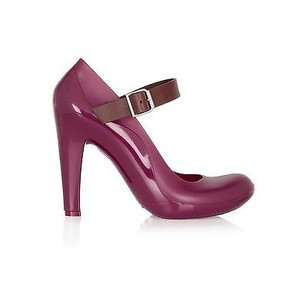 Marni Rubber Aubergine / Purple Pumps