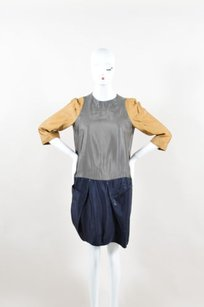 Marni short dress Multi-Color Gray Navy Brown Color on Tradesy