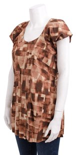 Marni White Cap Sleeve Top Brown