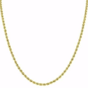 Master Of Bling 10k Yellow Gold Rope Necklace Chain Mm Mens Ladies Inches Elegant