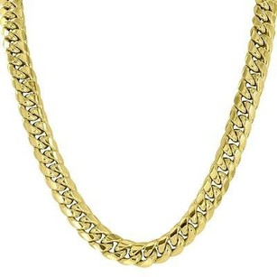Master Of Bling Inch Miami Cuban Link Necklace Chain Real 10k Yellow Gold Mens Mm Classy