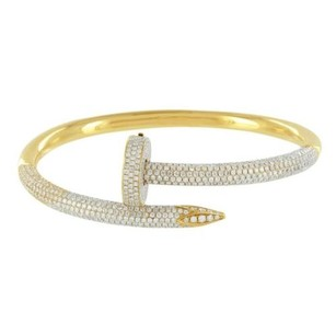 Master Of Bling Nail Bracelet 18k Yellow Gold Genuine Iced Out Diamonds High End 8.55 Carat Pave