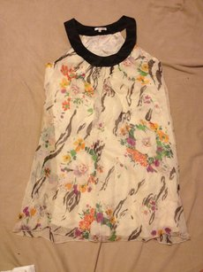 Matty M short dress CREAM FLORAL Chiffon Floral Sleeveless Classic on Tradesy