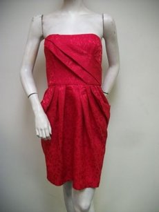 Max and Cleo short dress Red Sophia Strapless on Tradesy