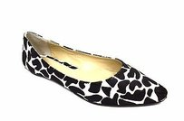 Max & Co. Black Ivory Pony Hair Multi-Color Flats