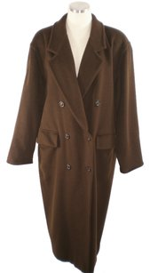 Max Mara Cashmere Chocolate Wool Trench Coat