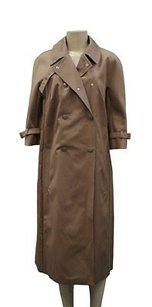 Max Mara Tobacco Double Breasted Rain 100507mm Raincoat