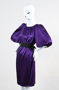 Max Mara short dress Purple Black Silk on Tradesy