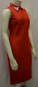 Max Mara short dress Reds Leone Red Shiny Shift on Tradesy
