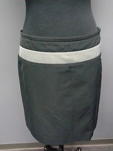 Max Mara S Blend Fitted Pencil Sma065 Skirt Black Gray White
