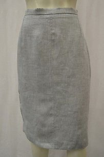 Max Mara S Marusca Lt Wovenlinen Pencil 120658mm Skirt Grays