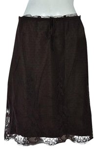 Max Studio Womens Floral A Line Casual Skirt Brown