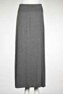 Max Studio Womens Maxi Skirt Gray