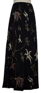 Max Studio Womens Floral Long Length 100 Rayon Maxi Skirt Multi-Color