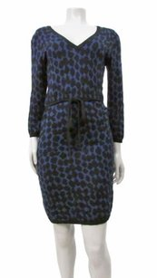 Max Studio short dress Blue Black Navy Long on Tradesy