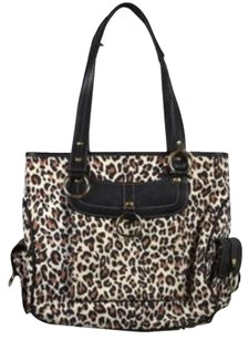 Maxx New York Womens Animal Satchel in Brown