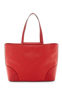 MCM Handbag Studded Leather Tote in RUBY RED