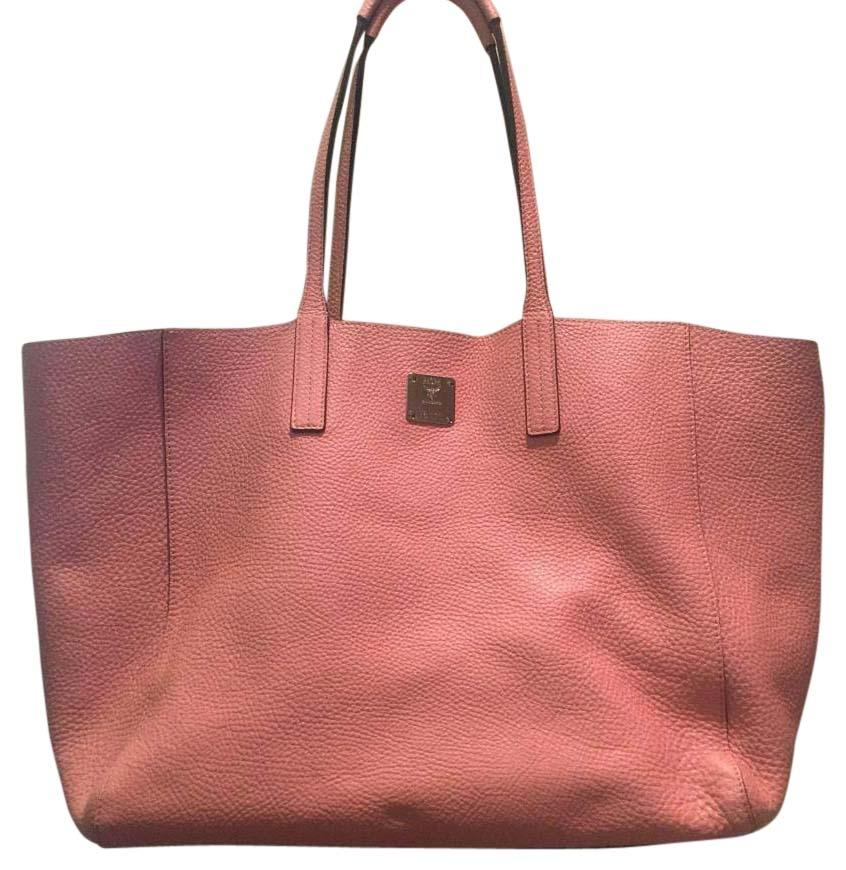 MCM Large Pink/Silver Tote Bag high-quality - www.kebab-marmaris.com