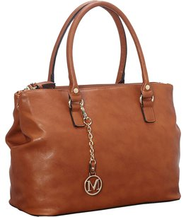 Medici Handbag Leather Satchel in Luggage