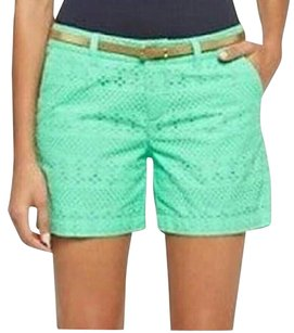 Merona Short Preppy Mini/Short Shorts GREEN Eyelet Mint Everest