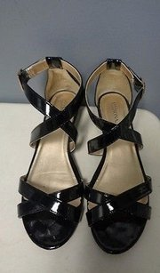 Merona Open Toe Strappy Black Sandals