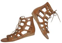 MIA Nwt Gladiator Lace Up Tan Sandals