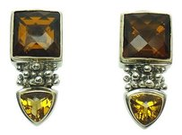 Michael Dawkins Michael Dawkins 925 Sterling Silver Citrine Drop Dangle Beaded Earrings E210