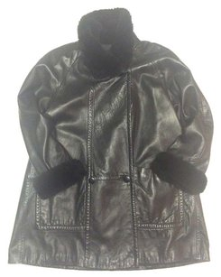 North Beach Leather For Rabbit Fur Coat 12 Leather Jacket