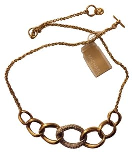 Michael Kors Michael Kors Necklace, 2 Tone Color With Rhinstone, Brand New, it comes with Its Orginal MK POUCH & BOX.