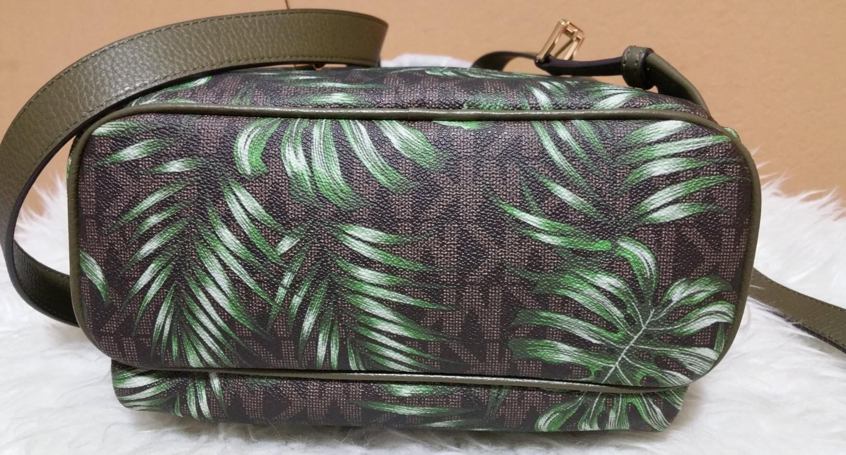 eb6818e43e77 ... reduced michael kors abbey medium palm tree wallet set brown olive  signature pvc leather backpack tradesy ...
