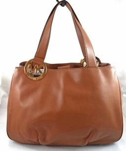 Michael Kors Leather Fulton Tote in Brown