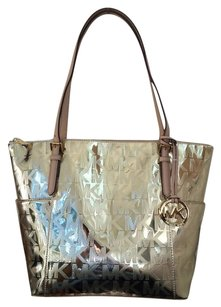 Michael Kors Shoppers Tote in Gold