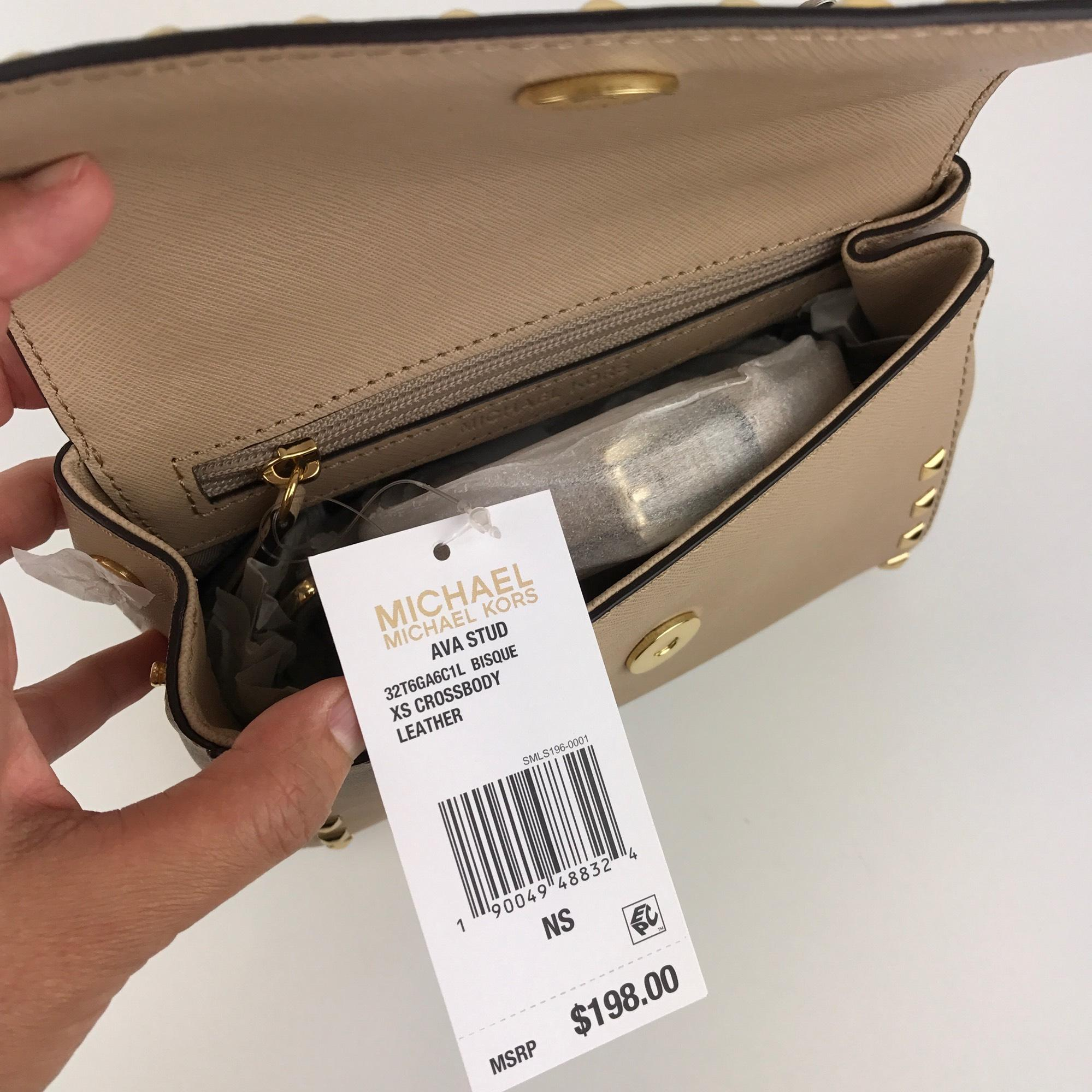 44ecea44a67d83 reduced new michael kors ava xs extra small mini satchel crossbody leather  pale gold a25fc 2b024; usa michael kors satchel in bisque. 123456789 4abcd  7e83d