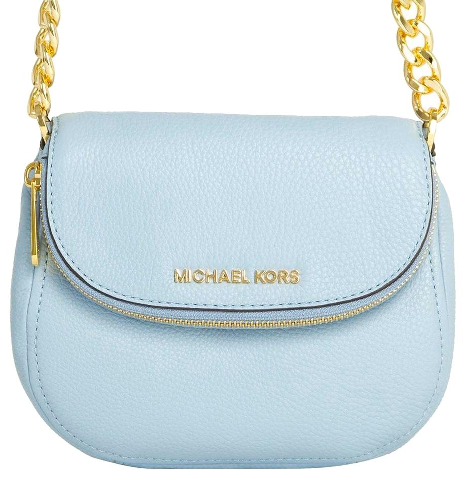 30795bd7c6c0 Michael Kors Michael Bedford Flap PALE BLUE Cross Body Bag delicate ...  aimeesongmichaelkorsbloggerbrunchdubai2  aimeesongmichaelkorsleopardshortsuitdubai ...