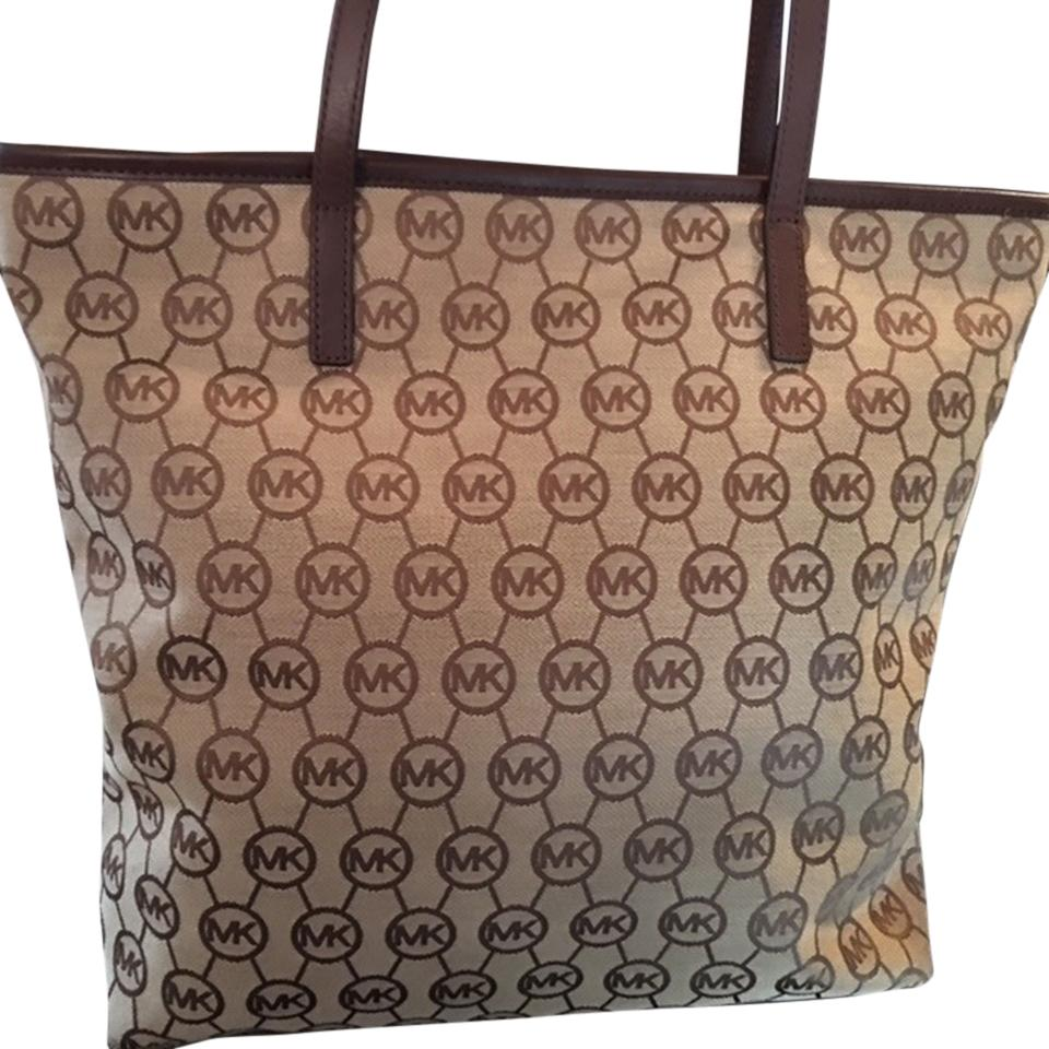 Michael Kors Jet Set Signature Tote Beige Beach Bag lovely - www ...