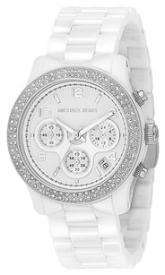 Michael Kors BRAND NEW WOMENS MICHAEL KORS (MK5188) WHITE CERAMIC RUNWAY CHRONOGRAPH WATCH